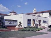 English: Front of Fullerton Junior College, Fullerton, California. Taken with a 35mm Exakta VX, using Ektachrome slide film.