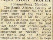 News story of the year award, 1943