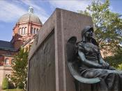 St. Matthew's Cathedral and 'Nuns of the Battlefield' -- the American Civil War Memorial to Catholic Nuns Who Aided Wounded Soldiers on Battlefields and in Hospitals (Northwest Washington, DC) 2013