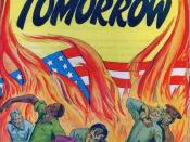 Cover to the propaganda comic book