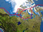 Northwest Passage routes.