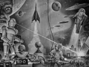 Winston Science Fiction Endpaper by Alex Schomburg.