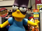 Bart Simpson oversized statue