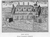 Port Royal from Samuel de Champlain's diagram, circa 1612