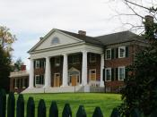 English: James Madison, fourth president of the United States wrote the Constitution at his estate near Orange Virginia, called Montpelier. Pictured here after an extensive renovation.