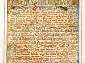 Blake Holy Thursday 1789