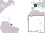 The location of the French overseas department of Martinique