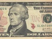 Alexander Hamilton on the Series 2004A $10 Federal Reserve Note, based on an 1805 portrait by John Trumbull