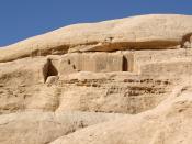 English: Petra, unfinished tomb Deutsch: Petra, unvollendetes Grab