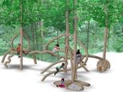 English: KinderForest gives children real trees to play with, and gives parents a natural alternative for their children.