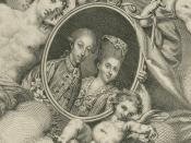 English: Drawing of Marie Clotilde of France with her husband the Prince of Piedmont