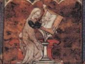English: Marie de France, from an illuminated manuscript