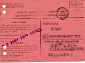 English: card of capture of prisoners - frontside Deutsch: Gefangenenmeldung für Kriegsgefangene - Vorderseite