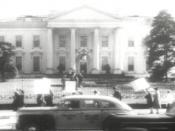 Protest at the White House by the American Peace Mobilization.