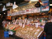 English: Pike Place Fish Market, Pike Place Market, Seattle, Washington, USA
