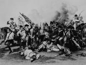 Battle of Camden; Death of de Kalb. Engraving from painting by Alonzo Chappel.