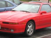 Toyota Supra photographed in College Park, Maryland, USA. Category:Toyota Supra (A70) Category:Red coupes