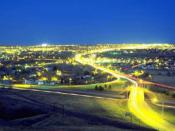 English: A personally-taken time lapse photograph of Great Falls, MT
