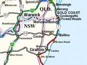 Grafton is reachable by road from Sydney and Brisbane on the Pacific Highway (Highway 1)