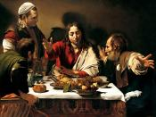 Supper at Emmaus, 1601. Oil on canvas, . National Gallery, London.