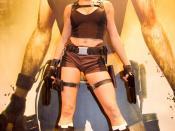 Alison Carroll, the official Lara Croft model for Tomb Raider: Underworld at Festival du jeu vidéo 2008 (Paris, France).