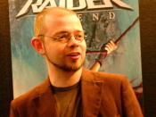 English: Toby Gard at the E3 2005 Français : Toby Gard à l'E3 2005