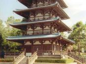 Japanese pagoda in Walt Disney World, Florida, USA