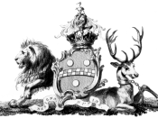 Coat of arms of the Pitt family, including William Pitt the Younger and the Elder.