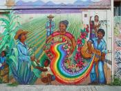 Mural: The culture contains the seed of resistence...