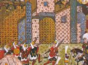 Ottoman Janissaries and the defending Knights of St. John, Siege of Rhodes, 1522