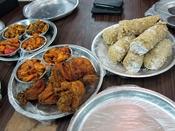 Sri Lankan Tamil food, Pittu and seafood in Jaffna, Sri Lanka