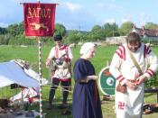 English: Living History, Caerwent The Batavi at a weekend of reconstructed Roman life in Caerwent. http://www.roman-britain.org/places/venta_silurum.htm