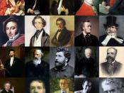 English: montage of great classical music composers - from left to right: first row - Antonio Vivaldi, Johann Sebastian Bach, Georg Friedrich Händel, Wolfgang Amadeus Mozart, Ludwig van Beethoven; second row - Gioachino Rossini, Felix Mendelssohn, Frédéri