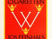 Werkbund Cigarren Cigaretten designed by F.H.Ehmcke