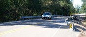 English: LA 445 at the Sims Creek bridge. The view is toward the north. The vehicle is a Mitsubishi.