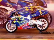 Français : maquette tamiya 1.12 Suzuki GSV500 Kenny Roberts Jr 2001