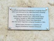British Engine Insurance Plaque