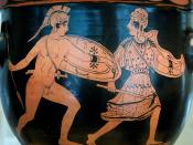 The battle of Achilles and Penthesileia. Lucanian red-figure bell-krater, late 5th century BC.