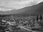 English: Internment camp for Japanese - Canadians in British Columbia. Français : Camp d'internement pour les Canadiens japonais en Colombie-Britanique.