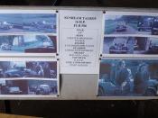 Bletchley Park Garage - right garage - Sunbeam Talbot 16 H.P.  FLR 586 - sign