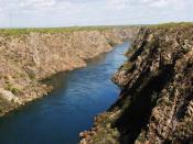 English: The São Francisco River south of Paulo Afonso