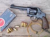 English: Smith and Wesson 1917 Revolver with clips and Auto-rim Cartridges