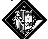 Hatchment of a man who dies after his first wife, and before his second wife. From File:Hatchment.husband 2 wives.jpg