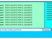 Español: Ejemplo de un Chat Web.
