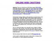Online Web Chatting