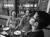 Crazyisgood: Nose spooning Hackers / Nomiku Founders: Lisa Q. Fetterman + Abe Fetterman + Wipop Bam Suppipat / 香港人 Hong Kong Humans / SML.20130608.6D.15651.BW