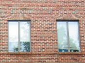 English: Windows of a brick building in Washington DC.