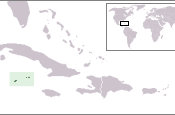 The location of the British Overseas Territory of the Cayman Islands