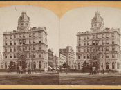 Union Dime Savings Bank, from Robert N. Dennis collection of stereoscopic views