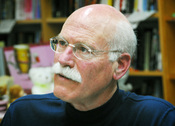 Tobias Wolff at an event at Kepler's in Menlo Park for his short story collection OUR STORY BEGINS.